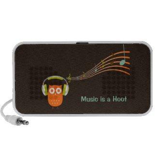 Owl Music Notes Speaker doodle