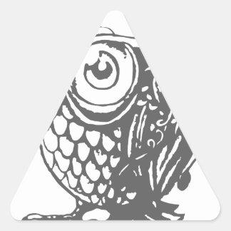 Owl Music Triangle Sticker