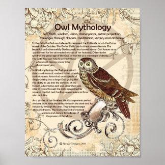 OWL MYTHOLOGY POSTER