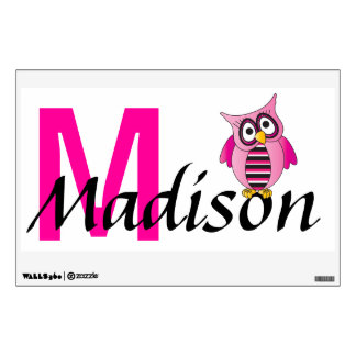 Owl Name Wall Art | Personalize Wall Decal