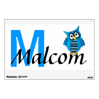 Owl Name Wall Art | Personalize Wall Sticker