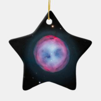 Owl Nebula Ceramic Ornament