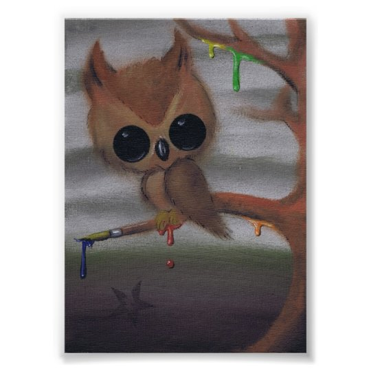 owl never give in art print