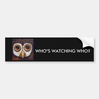 owl new one 6x6 car bumper sticker