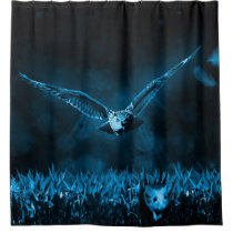 owl night hunt and field mouse shower curtain