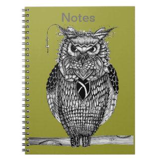 Owl notes spiral notebook