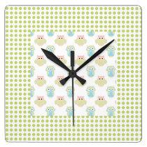 Owl Nursery Wall Clock