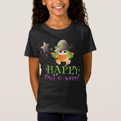 Owl-o-ween Girls' Bella Jersey T-Shirt