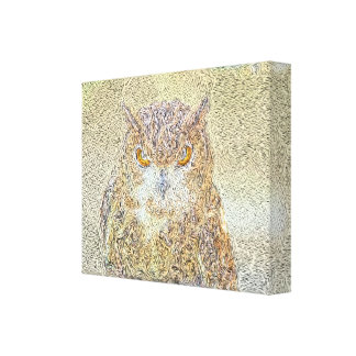 Owl Observing Gallery Wrapped Canvas
