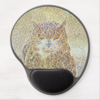 Owl Observing Gel Mouse Pad