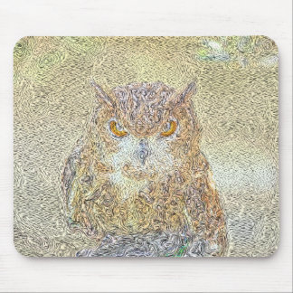 Owl Observing Mouse Pad