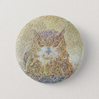 Owl Observing Pinback Button