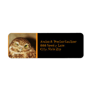 Owl of a Good Time Halloween Address Label