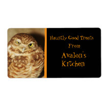 Owl of a Good Time Halloween Treats Baking Label Shipping Label