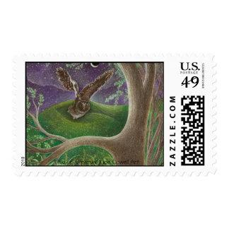 'Owl of Minerva' postage stamp