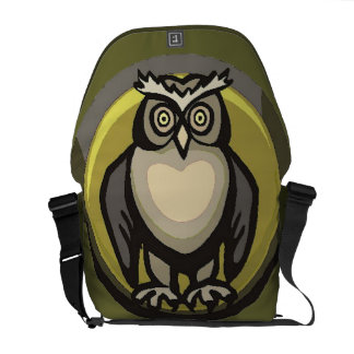 Owl of the Heart Courier Bag