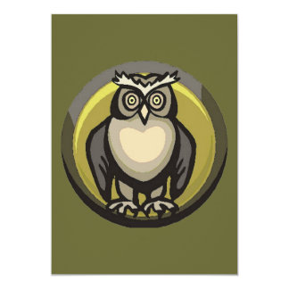 Owl of the Heart 5x7 Paper Invitation Card