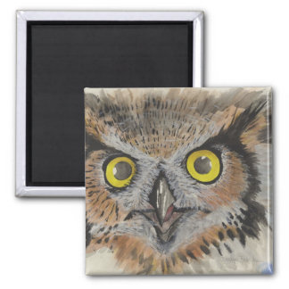 OWL OF THE NIGHT 2 INCH SQUARE MAGNET