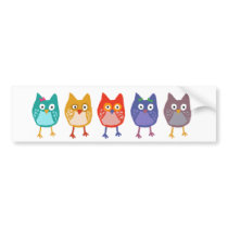 Owl of us bumper sticker