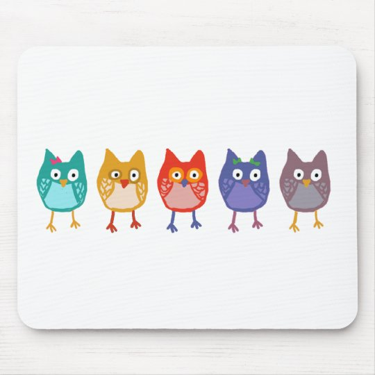 Owl of us mouse pad