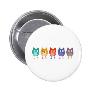 Owl of us pinback button