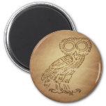 Owl of Wisdom Greek Magnet