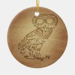 Owl of Wisdom Greek Ornament