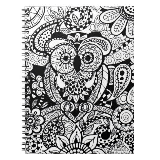 Owl of Wishes Color Your Own Zendoodle Journal