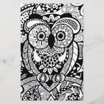 Owl of Wishes Color Your Own Zendoodle Products