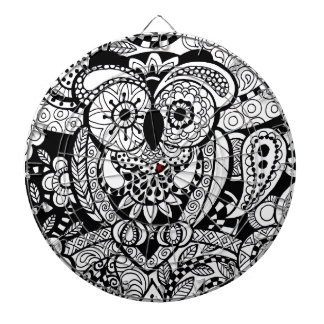 Owl of Wishes Color Your Own Zendoodle Products Dartboard