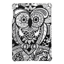 Owl of Wishes Color Your Own Zendoodle Products iPad Mini Cover