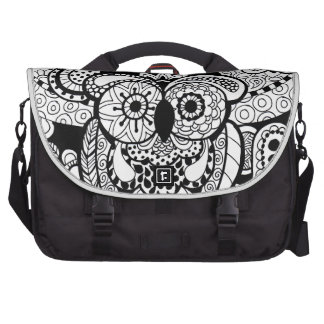 Owl of wishes color your own zendoodle products laptop messenger bag