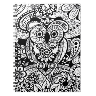 Owl of Wishes Color Your Own Zendoodle Products Notebook