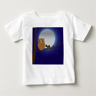 Owl on a branch baby T-Shirt