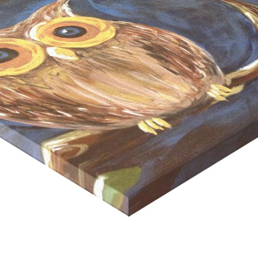 Owl on a Branch Gallery Wrapped Canvas