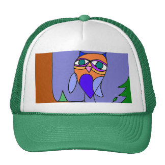 Owl on a branch hat