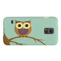 Owl on a branch illustration galaxy s5 case