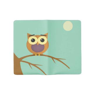 Owl on a branch illustration large moleskine notebook