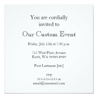 Owl on a Branch in a Circle Personalized Invitation
