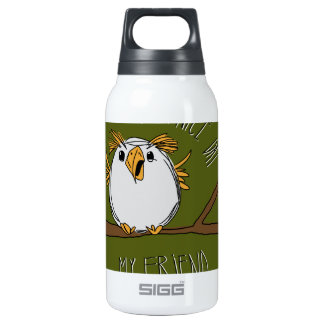 owl on a branch insulated water bottle