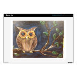 Owl on a Branch Laptop Skins