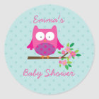 Owl on a Branch Personalized Sticker for Girl