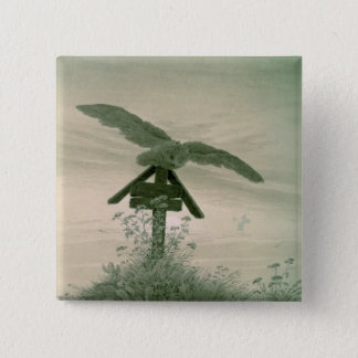 Owl on a Grave, 1836-7 Pinback Button