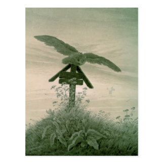 Owl on a Grave, 1836-7 Postcard