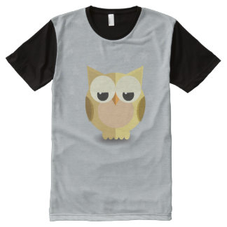 Owl on a stary background illustration All-Over-Print T-Shirt