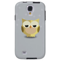 Owl on a stary background illustration galaxy s4 case
