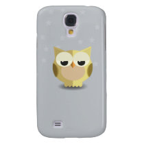Owl on a stary background illustration galaxy s4 cover