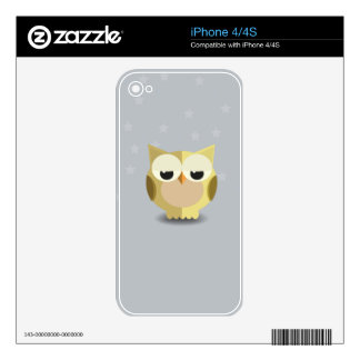Owl on a stary background illustration iPhone 4S skins