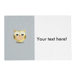 Owl on a stary background illustration placemat