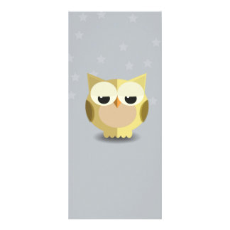 Owl on a stary background illustration rack card